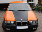 foliendesign vollverklebung 3er bmw compact schwarz orange matt 01