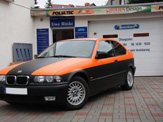 foliendesign vollverklebung 3er bmw compact schwarz orange matt 03