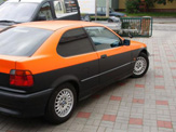 foliendesign vollverklebung 3er bmw compact schwarz orange matt 06