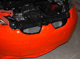 vollverklebung mitsubishi colt schwarz orange weiss oracal 970 03