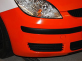 vollverklebung mitsubishi colt schwarz orange weiss oracal 970 05