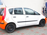 vollverklebung mitsubishi colt schwarz orange weiss oracal 970 06