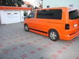 Vollverklebung VW T5 orange Foliendesign Uwe Röske